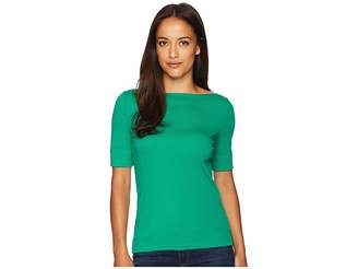 Lauren Ralph Lauren Petite Stretch Jersey Elbow-Sleeve Top