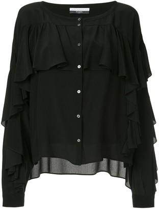 Faith Connexion ruffle buttoned blouse