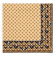 Gucci Men's Border-Print Silk Twill Pocket Square - Beige, Tan