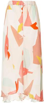 Ginger & Smart Converge printed skirt