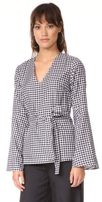 MLM LABEL Flare Sleeve Top $165 thestylecure.com