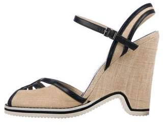 Marc Jacobs Peep-Toe Ankle Strap Wedges