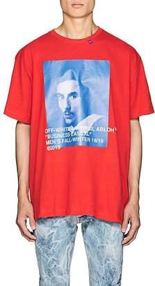 Off-White Men's Bernini-Print Cotton Oversized T-Shirt