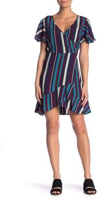 Band of Gypsies Annie Stripe Wrap Dress