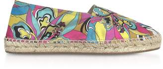 Emilio Pucci Multicolor Printed Canvas Espadrilles