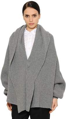 Jil Sander Oversized Ribbed Wool Blend Sweater