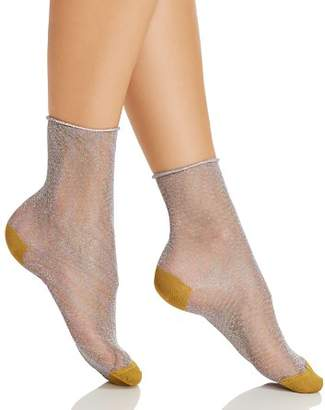 Happy Socks Hysteria by Emma Metallic Ankle Socks