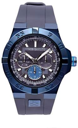 Vince Camuto The Master Grey & Blue Silicone Watch