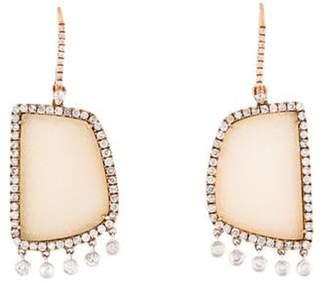 Meira T 14K Diamond & Druzy Agate Drop Earrings rose 14K Diamond & Druzy Agate Drop Earrings
