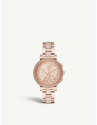 Michael Kors MK6560 Sofie rose gold-plated stainless steel chronograph watch