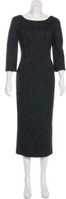 Dolce & Gabbana Wool Herringbone Dress