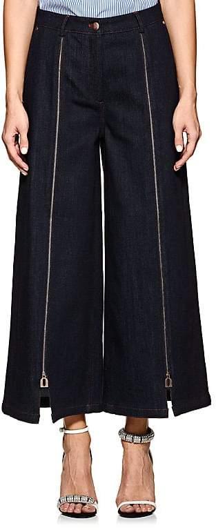 Women's Katya Zip-Front Cotton Denim Culottes