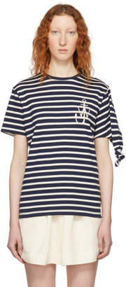 J.W.Anderson Navy Breton Stripe Knot T-Shirt