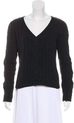 St. John Cashmere V-Neck Sweater