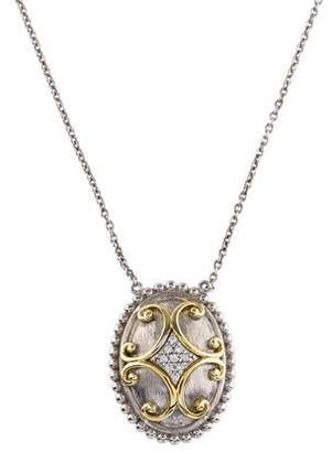 Jude Frances Two-Tone Diamond Pendant Necklace
