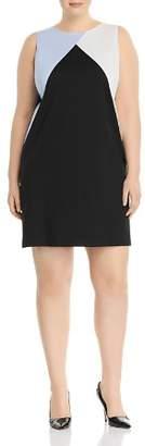 Love Ady Plus Color-Block Shift Dress