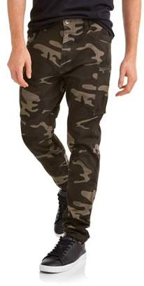 Seven Oaks Men's Tapered Fit Stretch Twill Cargo Jogger