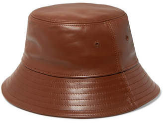 Burberry Leather Bucket Hat - Tan