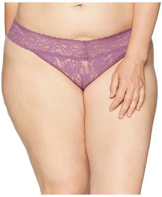 Hanky Panky Plus Size Signature Lace Original Rise Thong Women's Underwear