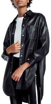 Maje Cillucia Leather Shirt