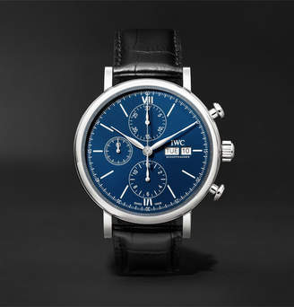 IWC SCHAFFHAUSEN Portofino 150 Years Limited Edition Chronograph 42mm Lacquered-Dial Stainless Steel And Alligator Watch