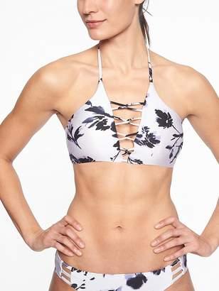 Athleta Aqualuxe Print Loop Bikini Top