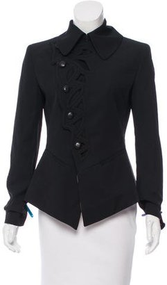 Jean Paul Gaultier Cutout-Accented Wool-Blend Blazer $175 thestylecure.com