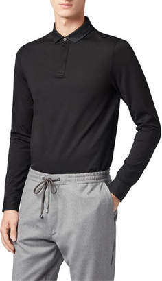 BOSS Men's Putney Long-Sleeve Polo Shirt