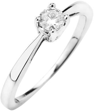 Love DIAMOND 9-Carat Gold, 25 Point Diamond Solitaire Ring