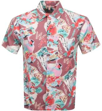 Replay Short Sleeved Tropical Shirt Black