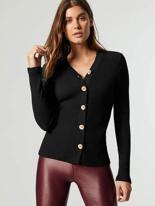 Cardi Top W/ Wooden Buttons