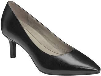 Aerosoles Heel Rest Leather Dress Pumps - DramaClub