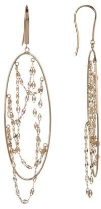 Lana 14K Yellow Gold Long Thin Oval Earrings