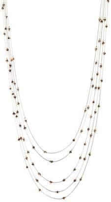 Black Diamond ACCESSORIES Metal Beaded Layered Necklace