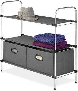 Whitmor Closet 3-Tier Shelves With 2 Drawers