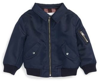 Infant Boy's Burberry Mini Pipley Bomber Jacket $350 thestylecure.com