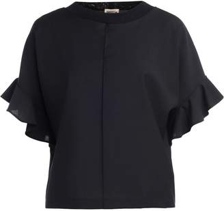 Semi-Couture Semicouture Clay Black Flounced Blouse
