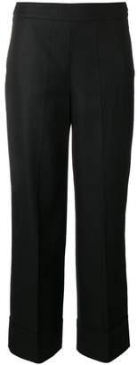 Incotex wide leg cropped trousers