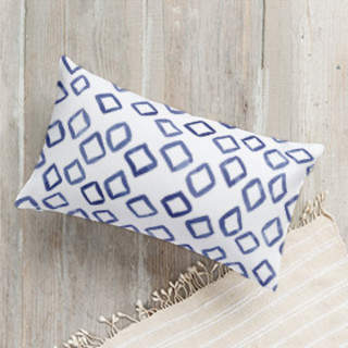 Buy Painted Pattern - Scattered Diamonds Self-Launch Lumbar Pillows!
