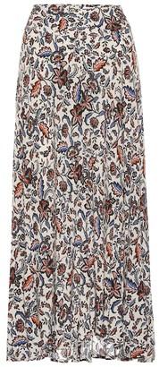 Velvet Willa floral midi skirt