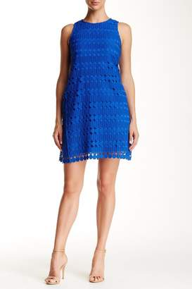 Julia Jordan Geo-Lace Shift Dress
