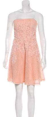 Yoana Baraschi Strapless Lace Dress