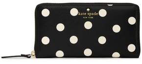 Kate Spade Polka-Dot Faux Textured-Leather Wallet