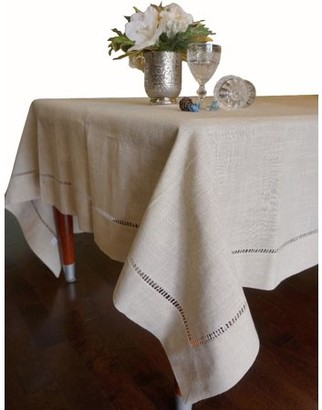 """Nice & Great Beautiful Hemstitched Table Runner Quality Large Dinning Tablecloth Size: 65"""" x 140"""" Long Home Holiday Tablecover Cloth Natural"""