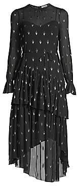Joie Women's Maylene Metallic Arrow High-Low Dress