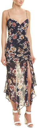 Nicholas Drawstring Silk Maxi Dress