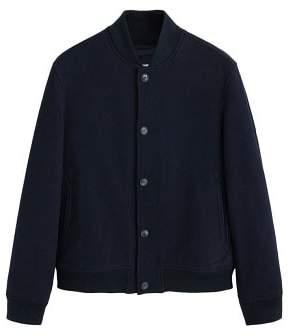 MANGO Wool college bomber jacket