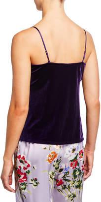 Natori Natalie Embroidered Velvet Camisole