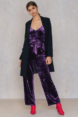 Na Kd Party Velvet Thin Strap Jumpsuit
