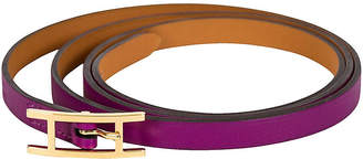 One Kings Lane Vintage HermAs Anemone Purple Wrap Bracelet - Vintage Lux